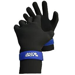 Glacier Glove Premium Waterproof Glove, Black/Blue, Medium