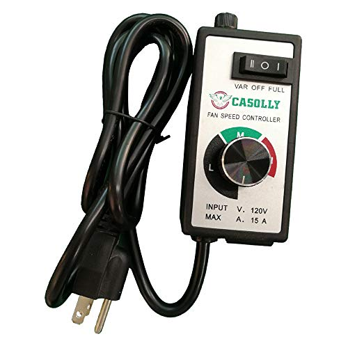 Casolly Variable Fan Speed Controller for Exhaust Duct Inline Fan ()