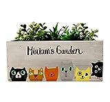 Personalized Cat Planter Box