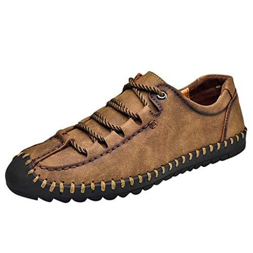 (iHPH7 Oxford Summer Fashion Personality Tide Shoes Casual Comfort Versatile Shoes Men (46,Khaki))