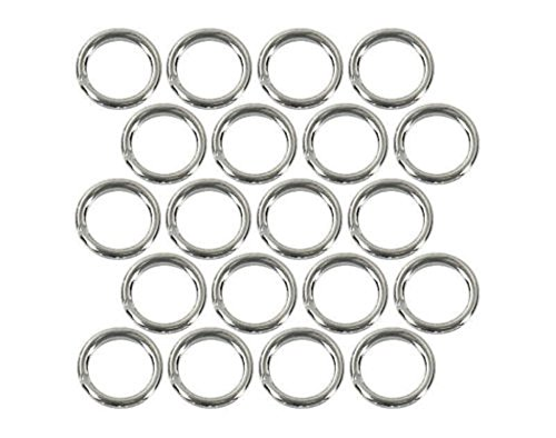 (20) Sterling Silver Plated Open Jump Rings 5mm Diameter 21 Gauge Jewelry Wire (Ring Open 5mm)