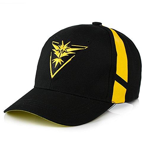 OYSTERBOY Pocketmon Go Gym Team Valor/Mystic/Instinct Embroidery Baseball Cap (Yellow - Instinct) ()