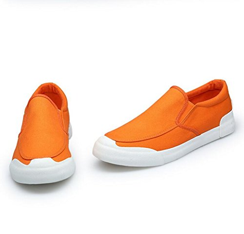 Breathable Lazy Fashionable Shoes Men's Canvas Shoes Orange Summer XUFvI