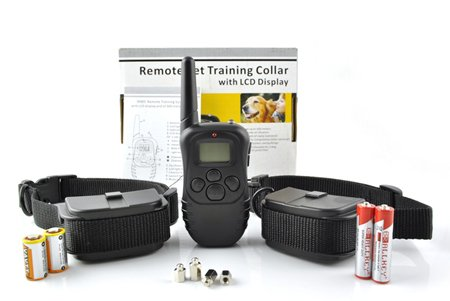 For Two dogs 100LV Remote Control Dog Training Shock & Vibration VIBRATE Collar with LCD Display & Beep