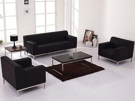 Amazon.com: 3pc conjunto moderno sofá de recepción de ...