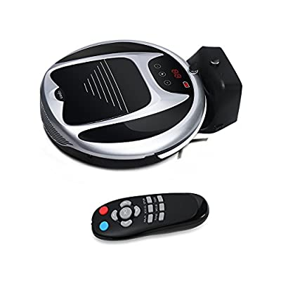 Robotic Vacuum Cleaner with Remote Control and Self Charging Technology Professional Automatic Cordless Carpet Vacuum Cleaner Robot Pet (Black with White)