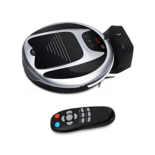 Robotic Vacuum Cleaner with Remote Control and Self Charging Technology Professional Automatic Cordless Carpet Vacuum Cleaner Robot Pet (Black with White) (Vacuum Cleaner Remote Control compare prices)