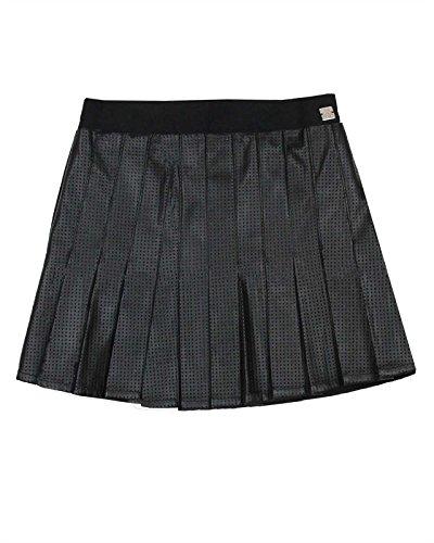 Deux Par Deux Girls Skirt - Deux par Deux Girls' Pleated Pleather Skirt Bohemian Spirit, Sizes 7-12 - 8