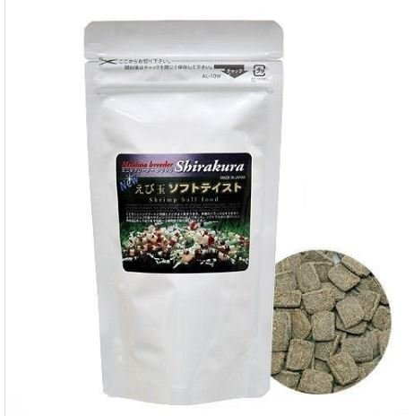 - SunGrow Shirakura Shrimp Food: Made with Organic Seaweed: Rich in Vitamins and Minerals: Provides Optimum Health for Shrimp, Crayfish, Pleco, Snail & Bottom feeders (Small (Pellets))