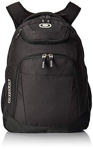OGIO 411069.03 Black/Silver Excelsior Carry-On Commuter Backpack