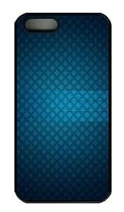 iPhone 5S Case - Customized Unique Design Pattern Glass Blue New Fashion PC Black Hard