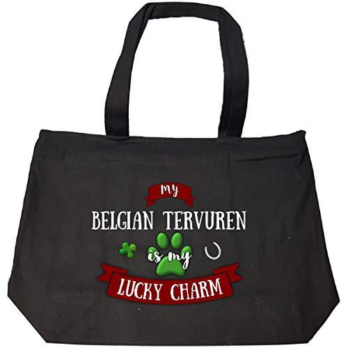 My Belgian Tervuren Is My Lucky Charm Custom Dog Owner Gift - Tote Bag With Zip