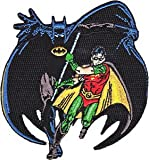 DC Comics Iron on Patch - Batman & Robin Fighting Super Hero Pose Running Applique