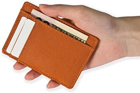 SwissElit Minimalist Wallet -Slim Design Made from Durable Leather/Cork In 9 Color