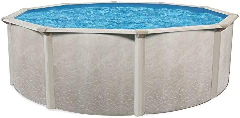 Cornelius Aquarian Phoenix 24 x 52 Foot Round Steel Constructed Frame Above Ground Family Sized Outdoor Backyard Swimming Pool Without Liner or Skimmer