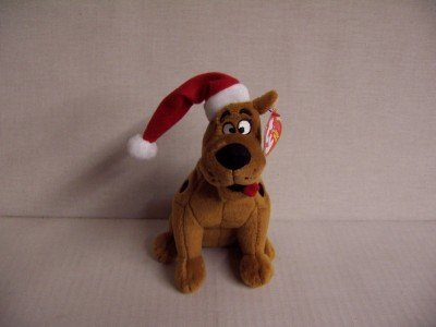 Ty Beanie Baby Scooby Doo with Christmas