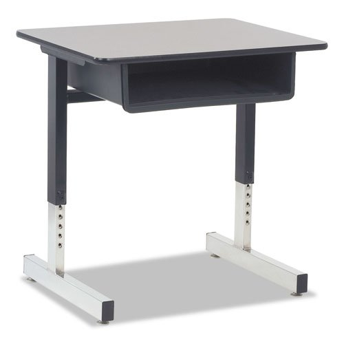 30h Tables Nebula Gray (Virco Cantilever-Legged Student Desk, 26W X 20D X 30H, Gray Nebula, 2/Carton)