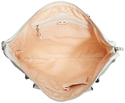 Fornarina Tres Jolie - Bolso de hombro de piel sintética mujer marfil - Elfenbein (ice 0700)
