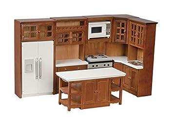 Amazon.es: Melody Jane Nogal Cocina Casa de Muñecas ...