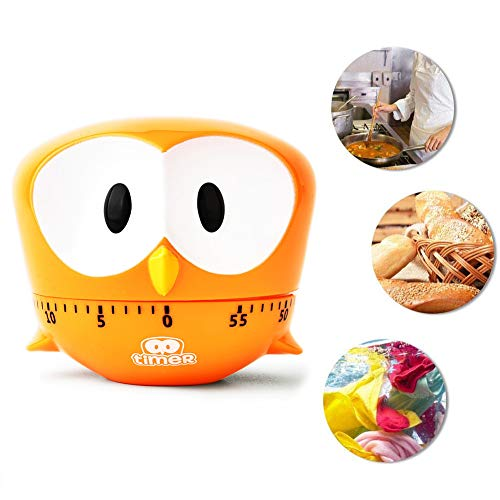 60-min Countdown Timer,Mechanical Timer Reminder Counting,Big eye eagle design,for Cooking, Reading, Time Management for Kids and Adults Baking Cooking Steaming,C (Eagle Eye Alarm)