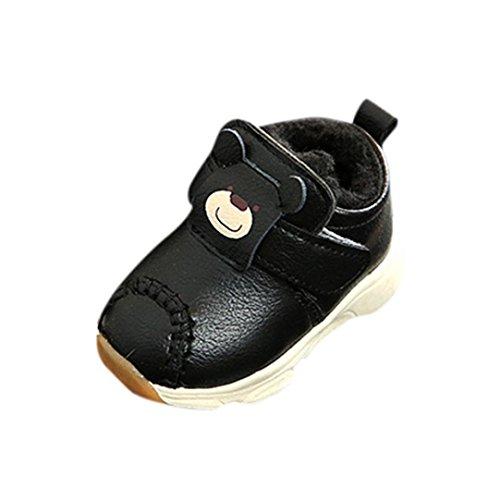Leder Madchen Warm Kids Sneaker Baby Shoes Schwarz Casual Cartoon