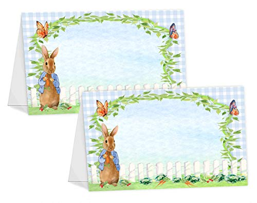 POP parties Peter Rabbit Table Tents - 12 Peter Rabbit Buffet Cards - Peter Rabbit Place Cards - Peter Rabbit Decorations - Peter Rabbit Party Decorations - Peter Rabbit Party Supplies