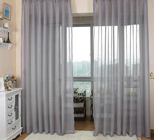 2個 NAPEARL スタイリッシュでカラフルなベッドルームショートカーテン (グレー1, 幅100x丈178cm 2枚組)