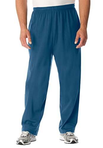 Price comparison product image Kingsize Men's Big & Tall Lightweight Open-Bottom Sweats, Ink Blue Tall-2Xl