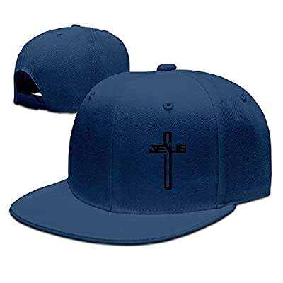 Casual Men Women Christian Jesus Cross Flat Ajustable Snapback Cap ForestGreen by jia3261