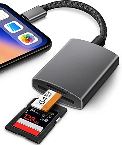 Lector de tarjetas SD para iPhone, iPad.