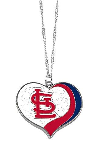 St Louis Cardinals MLB Sports Team Logo Charm Gift Glitter Heart - St Charm Louis Cardinals