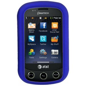 (Pantech Pursuit II (P6010) - Rubberized Hard Protector Case - Blue)