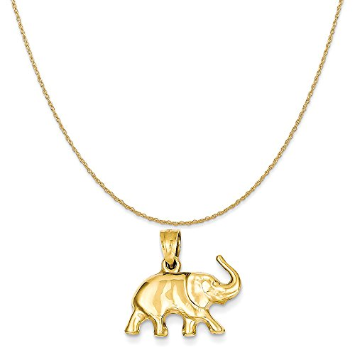 Gold 3d Elephant Charm - 9