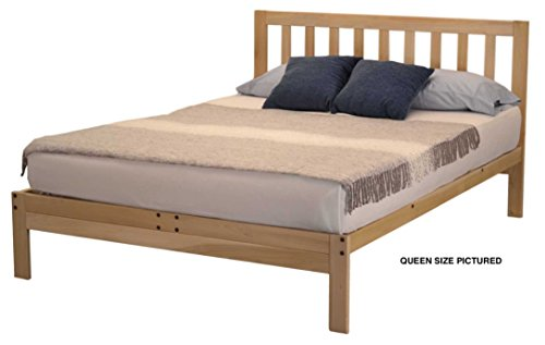 KD Frames Charleston Plus Platform Bed - Queen. (Unfinished Bed Queen)