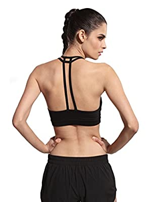 Queenie Ke Women's Light Support Cross Back Wirefree Pad Yoga Sports Bra