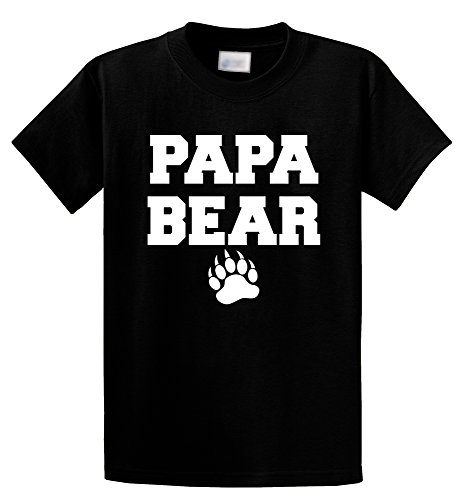 Comical Shirt Men's Papa Bear T Shirt Cute Fathers Day Gift Tee Black L (Papa Bear)