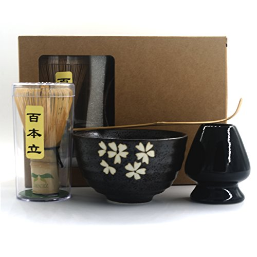 Read About Complete Start Up Matcha Tea Kit - Retro Japanese Natural Bamboo Matcha Whisk ( Chasen ) ...