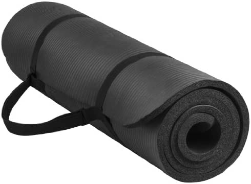 BalanceFrom CrossYoga All-Purpose 1/2-Inch Extra Thick High Density Anti-Tear Exercise Yoga Mat with Carrying Strap
