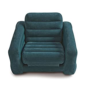 """Intex Pull-out Chair Inflatable Bed, 42"""" X 87"""" X 26"""", Twin (Colors May Vary)"""