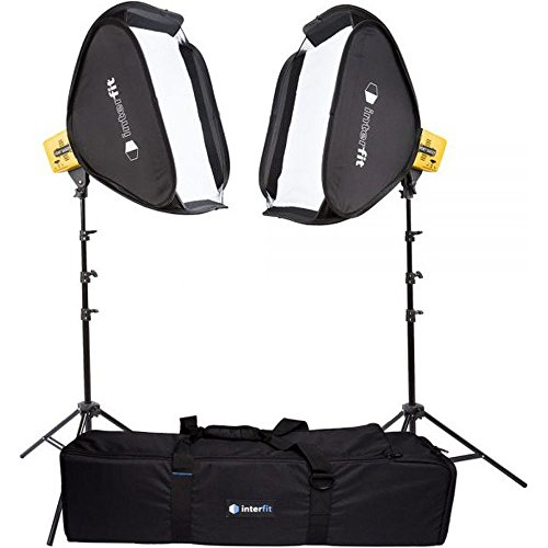 Interfit Honey Badger 320Ws 2-Light Kit, Compact, Yellow (HB3202K1)