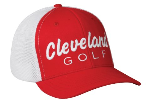 (Cleveland Golf Tour Mesh Tek Cap (Red/White, Large/X-Large))