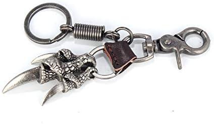 女性のキーホルダー カップルキーチェーンぶら下げチェーン人格イーグルクローパンクレトロスタイル 妻、彼女、プレゼント (色 : 褐色)