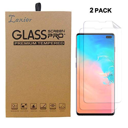 2 Pack of Galaxy S10 Plus Screen Protector, Case Friendly Edge to Edge HD Clear PET Film Saver Full Coverage Protective Cover for Samsung Phone S10+ (Not Tempered Glass)