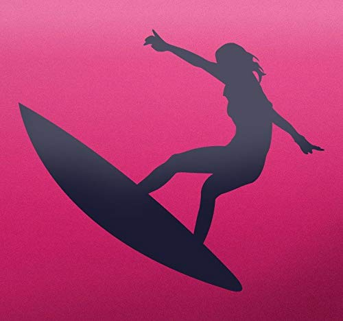quantd Wall Stickers Art Decor Decals Surfer Girl Silhouette Sticker for Living Room Bedroom Girls Bedroom]()