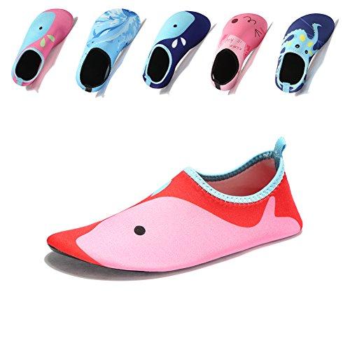 Laiwodun zapatos de niño Zapatos de agua de natación Niños Zapatos de niños descalzo Aqua calcetines para la piscina de playa Surf Yoga Unisex Color-2