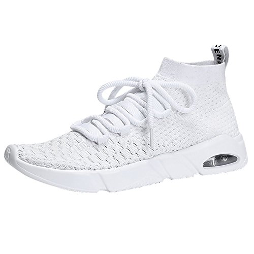 Men's Running Casual Sport Shoes Slip-on Lightweight Breathable Fashion Sneakers Walking Shoes ELPRS1806-White43 by EL Possibilities