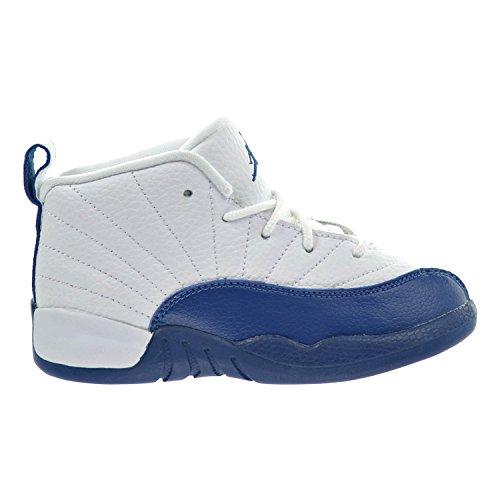 Jordan 12 Retro BT Toddler Shoes White/French Blue/Metallic Silver 850000-113 (7 M US) by Jordan
