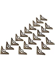 Dophee 20Pcs 35mm Vintage Style Iron Corner Cover Protectors Gold Tone for Jewelry Gift Box