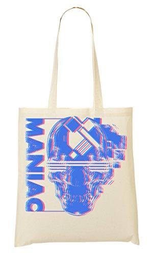 Lets Play | Maniac Killer | Scary Skull | Cool T Shirt | Nice To | Super | Osom Bones | Popular | Yolo Swag | Bolso De Mano Bolsa De La Compra