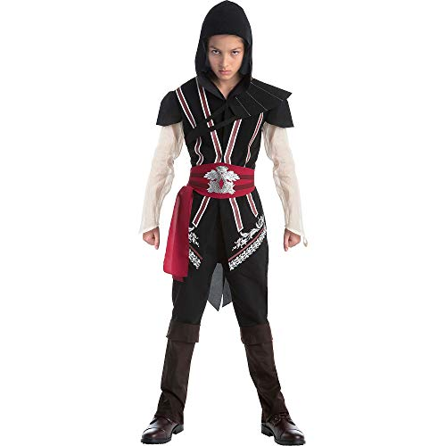 AFG Media Ltd Assassin's Creed Ezio Costume for Boys, Size Large, Includes Tunic, Hood, Spauldron, Sash, and Boot Covers]()